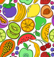 Abstract colorful fruit seamless pattern vector image