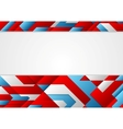 Abstract blue and red tech corporate design vector image vector image