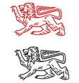 Ancient heraldic lion silhouette vector image vector image