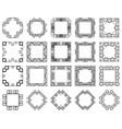 art deco frames set vector image vector image