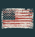 banner with flag usa in grunge style vector image