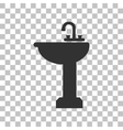 Bathroom sink sign Dark gray icon on transparent vector image vector image