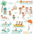 Beach Activities vector image vector image