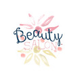 beauty salon logo label for hair or beauty studio vector image vector image