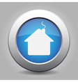 blue metal button with home vector image