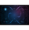 blue pink gaming interface digital technology vector image vector image