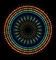 boho tribal radial mandala art vector image
