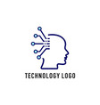 brain technology logo vector image