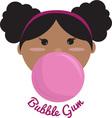 Bubble Gum Princess vector image