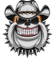 Bulldog in a cowboy hat vector image