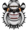 Bulldog in a cowboy hat vector image vector image