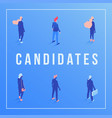 candidates social media banner isometric template vector image vector image