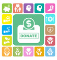 charity and donation icons set vector image