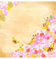 cherry flower corner vector image vector image