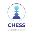 chess game logo design template chess vector image vector image