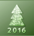 christmas tree retro light banner vector image vector image