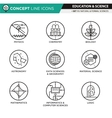 Concept Line Icons Set 11 Natural and formal vector image vector image