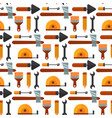 construction tools worker equipment house vector image vector image