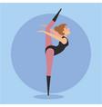 dancer ballet girl design vector image