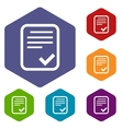 Document rhombus icons vector image vector image