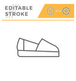 espadrille editable stroke line outline icon vector image vector image
