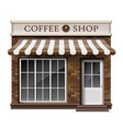 exterior coffee boutique shop or cafe brick vector image vector image