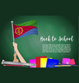 flag of eritrea on black chalkboard background vector image vector image
