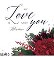 floral greeting valentines day lovely card design vector image vector image