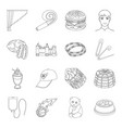 food sport atelier and other web icon in outline vector image vector image