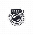 free food delivery in black color vector image vector image