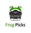 frog helmet logo vector image