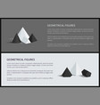 geometrical figures posters vector image vector image