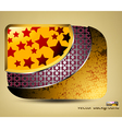Glossy stars with pattern icon concepts background vector image vector image