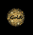 Gold sand glittering circle vector image