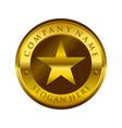 golden circular star emblem symbol logo design vector image