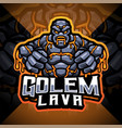 golems lava esport mascot logo design vector image vector image