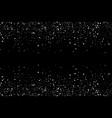 gray glitter confetti sparkling glitter border vector image vector image