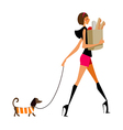 grocery shopping woman vector image vector image