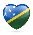 Heart icon of Solomon Islands vector image vector image