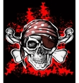 Jolly Roger pirate symbol with crossed bones vector image vector image