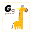 letter g funny alphabet for young children vector image vector image