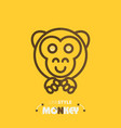 line style monkey vector image vector image