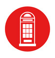 london phone cab isolated icon vector image vector image