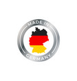 made in germany icon with german flag map badge vector image vector image