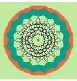 Mandala in outlines inside round frame vector image vector image