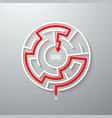 maze labyrinth simple icon vector image vector image