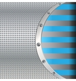 Metal background with blue lines vector image
