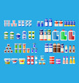 milk products in various packages vector image vector image