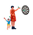 mom and son at home mother vector image vector image