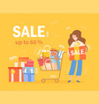 online shopping for clothing accessories vector image